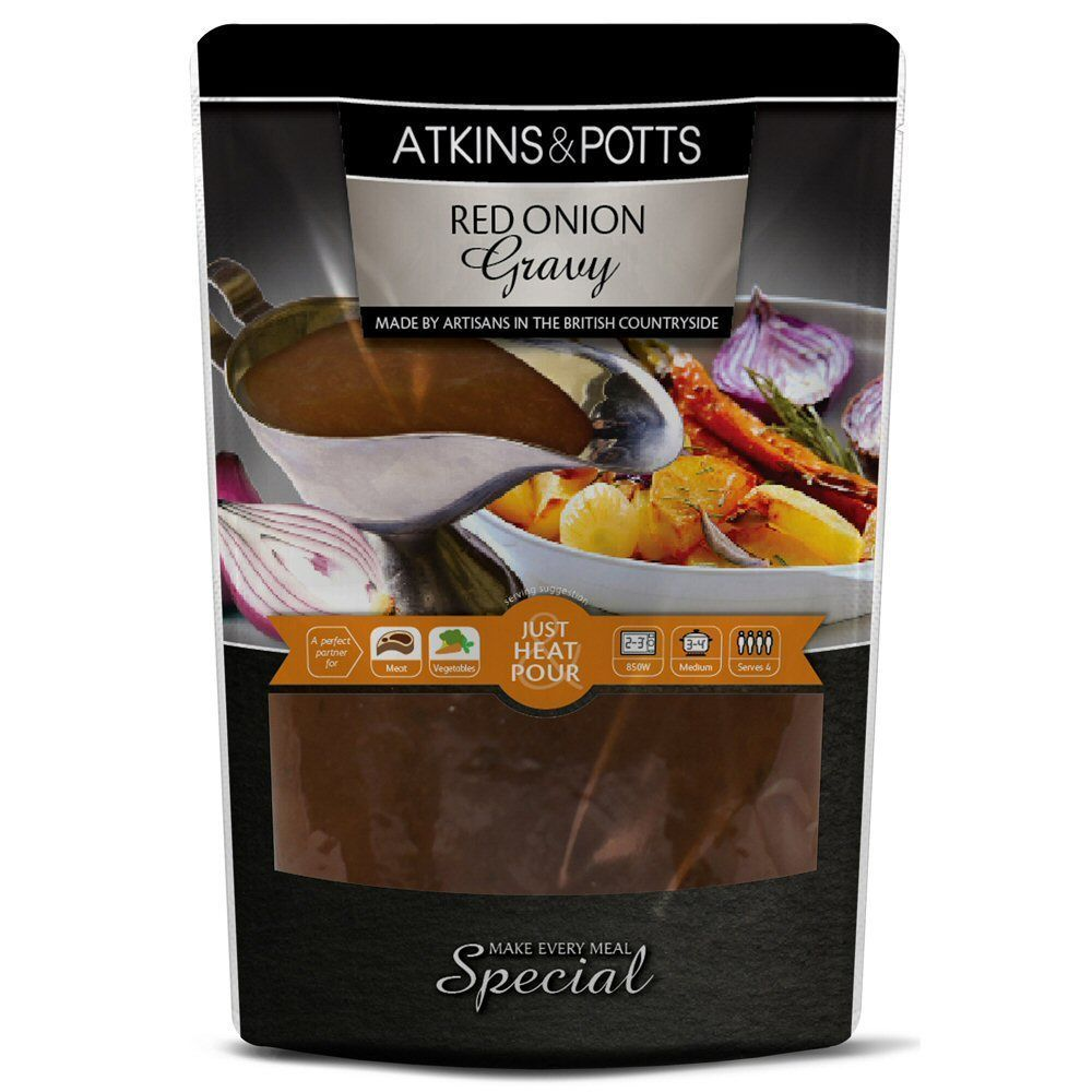 Atkins & Potts Red Onion Gravy 350g