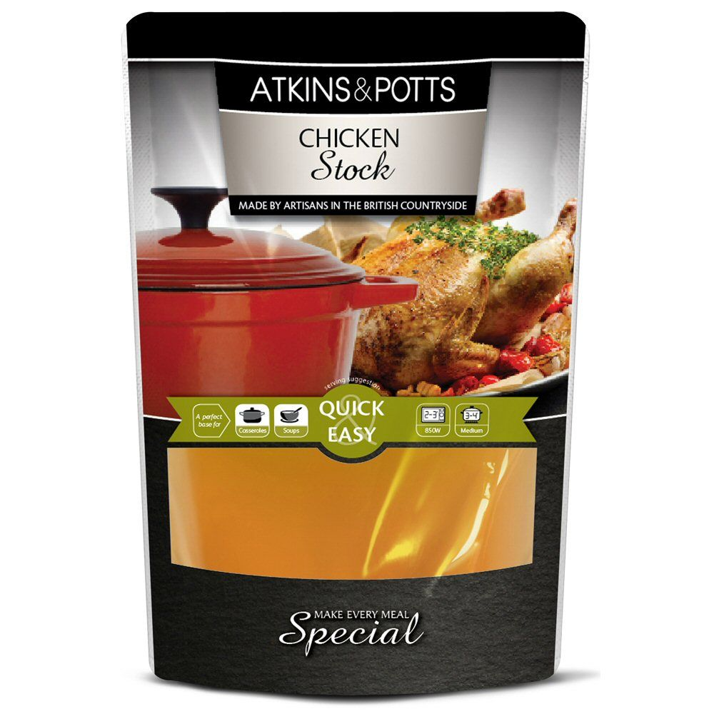 Atkins & Potts Chicken Stock 350g