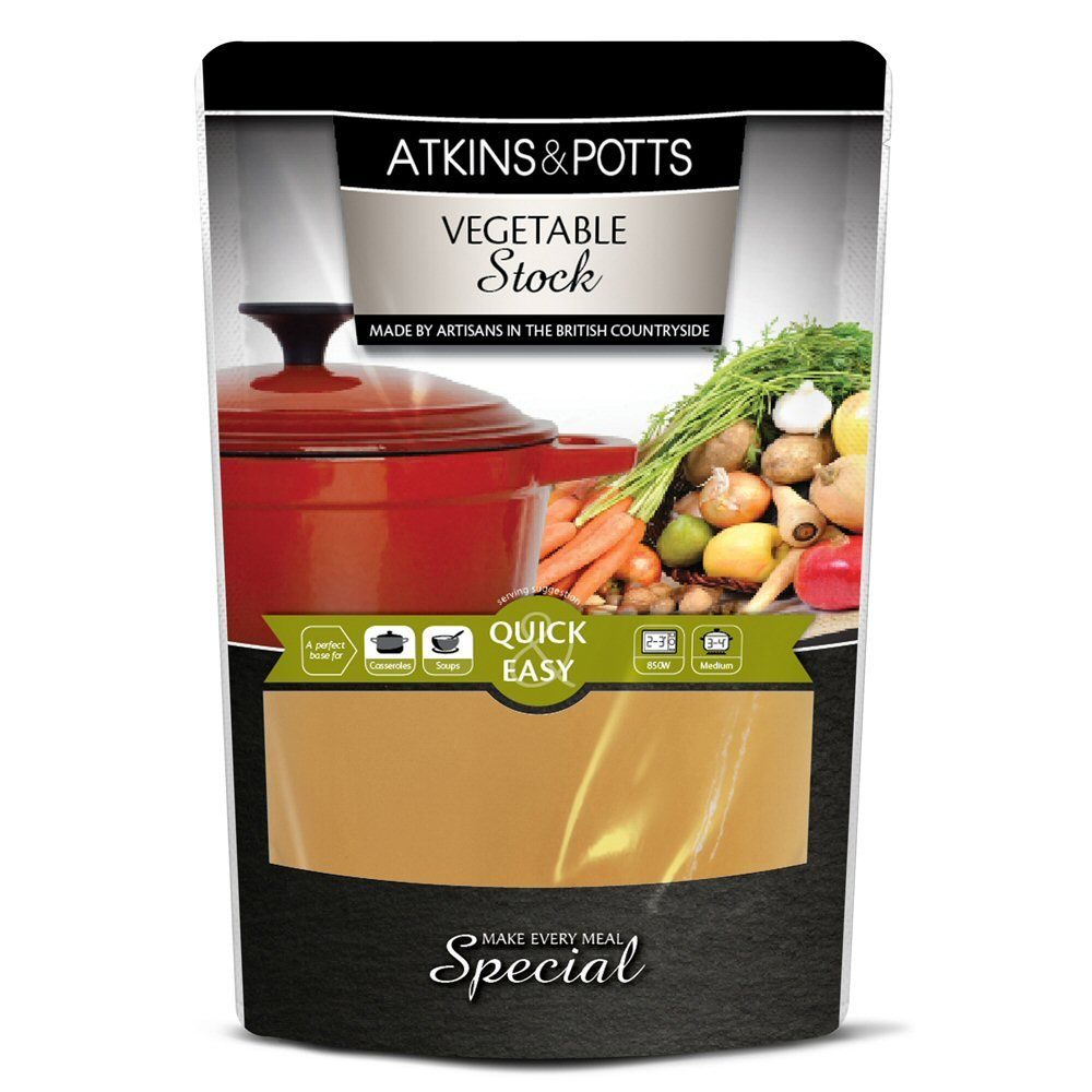 Atkins & Potts 350g Vegetable Stock