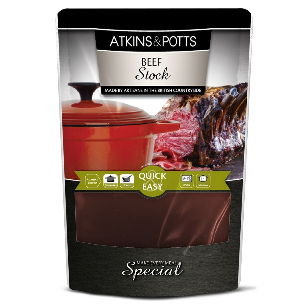 Atkins & Potts 350g Beef Stock