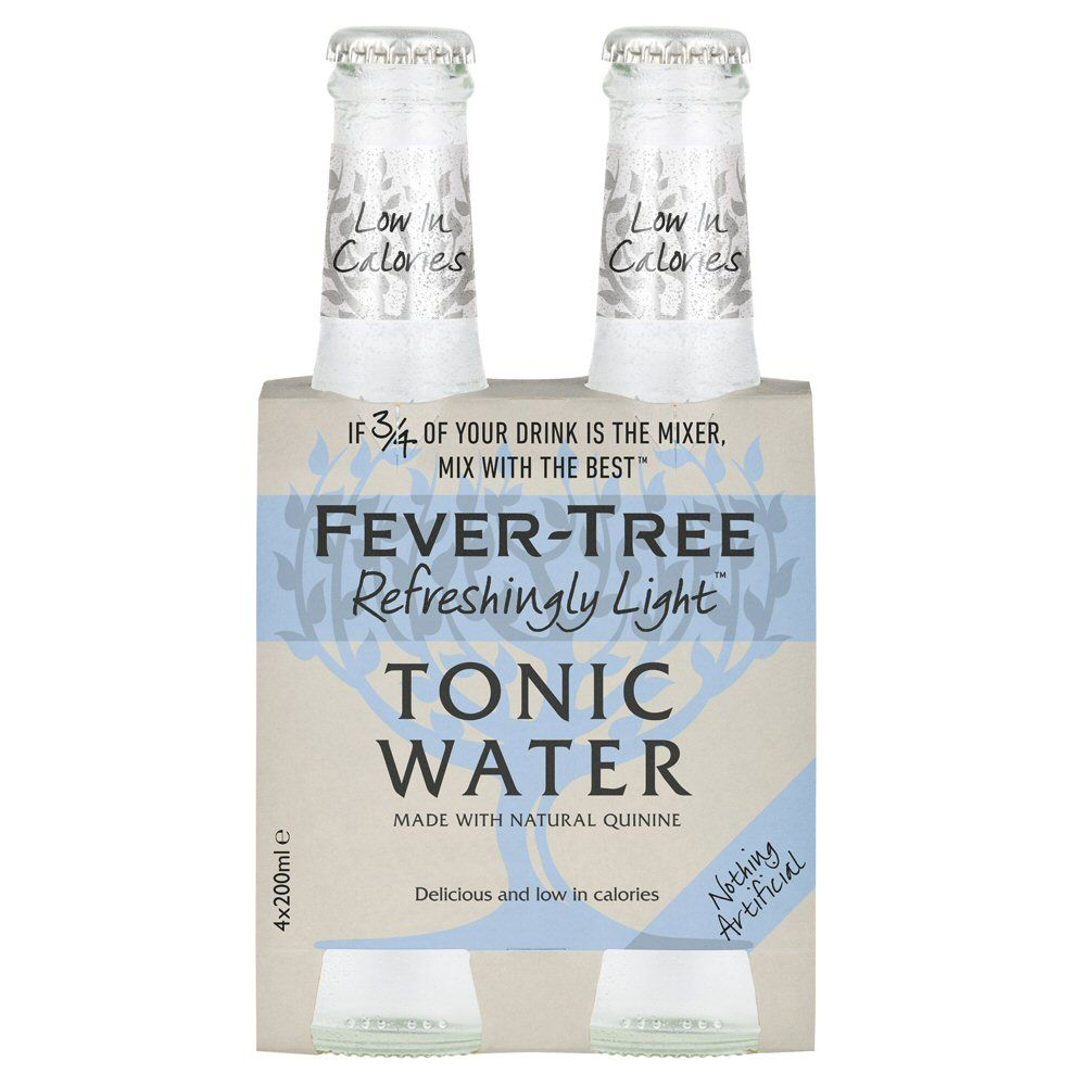 Fever Tree Refreshingly Light Tonic Water 4 x 200ml