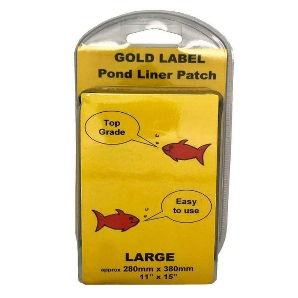 Gold Label 280 x 380mm Large Pond Liner Repair Patch Kit