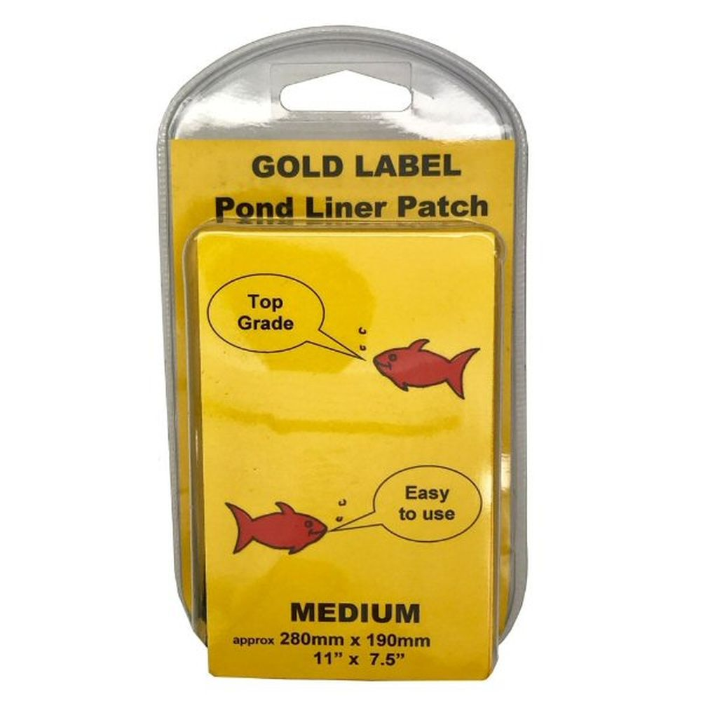 Gold Label 280 x 190mm Medium Pond Liner Repair Patch Kit