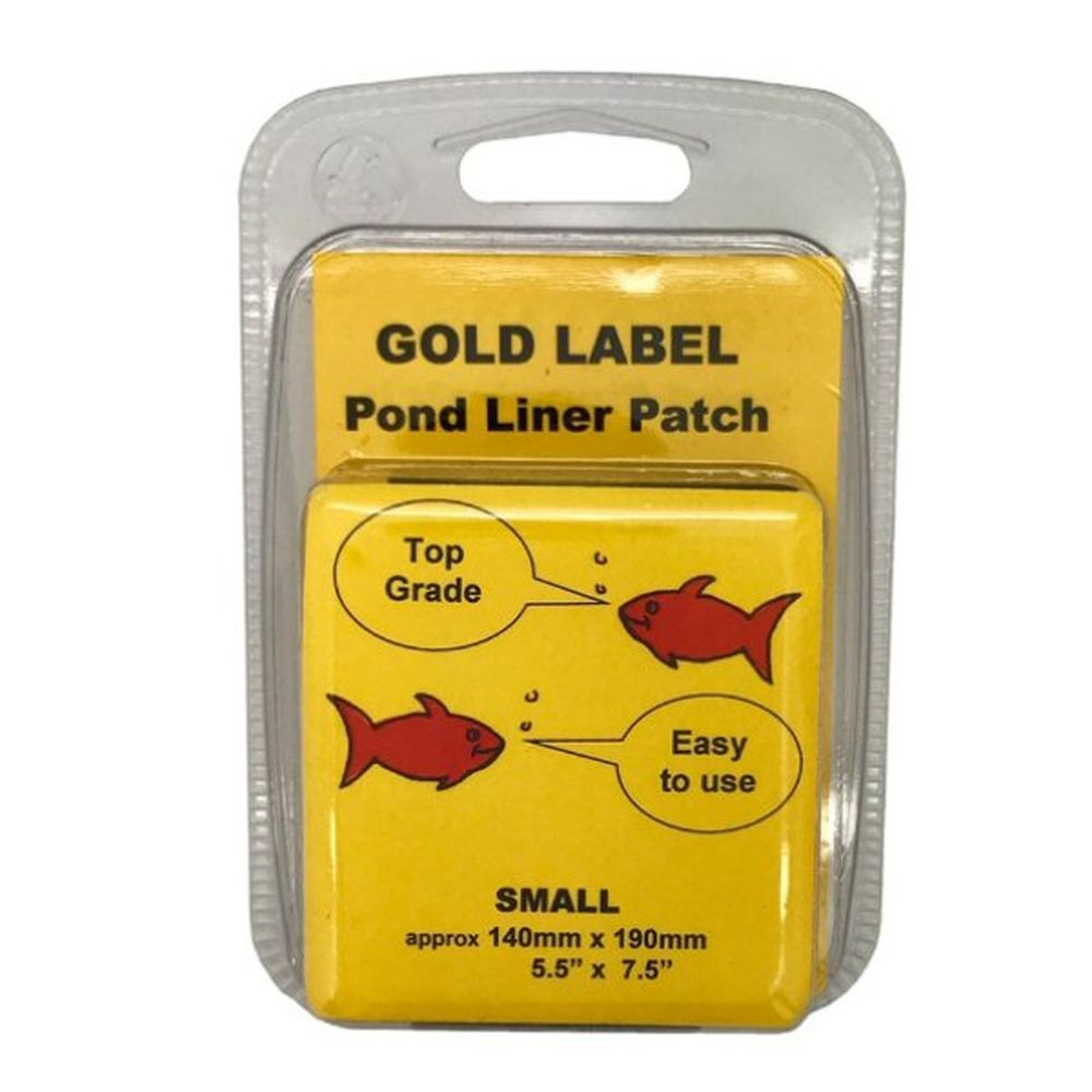 Gold Label 140 x 190mm Small Pond Liner Repair Patch Kit