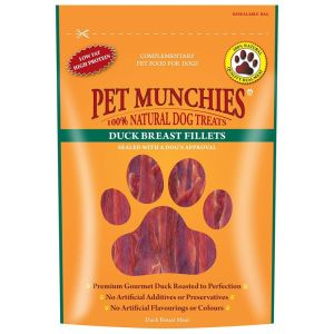 Pet Munchies 80g Duck Breast Fillets