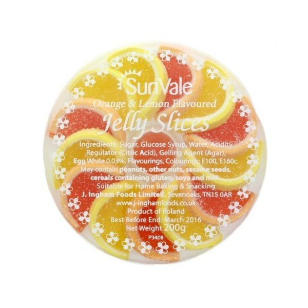 Sunvale Orange & Lemon Flavoured Jelly Slices