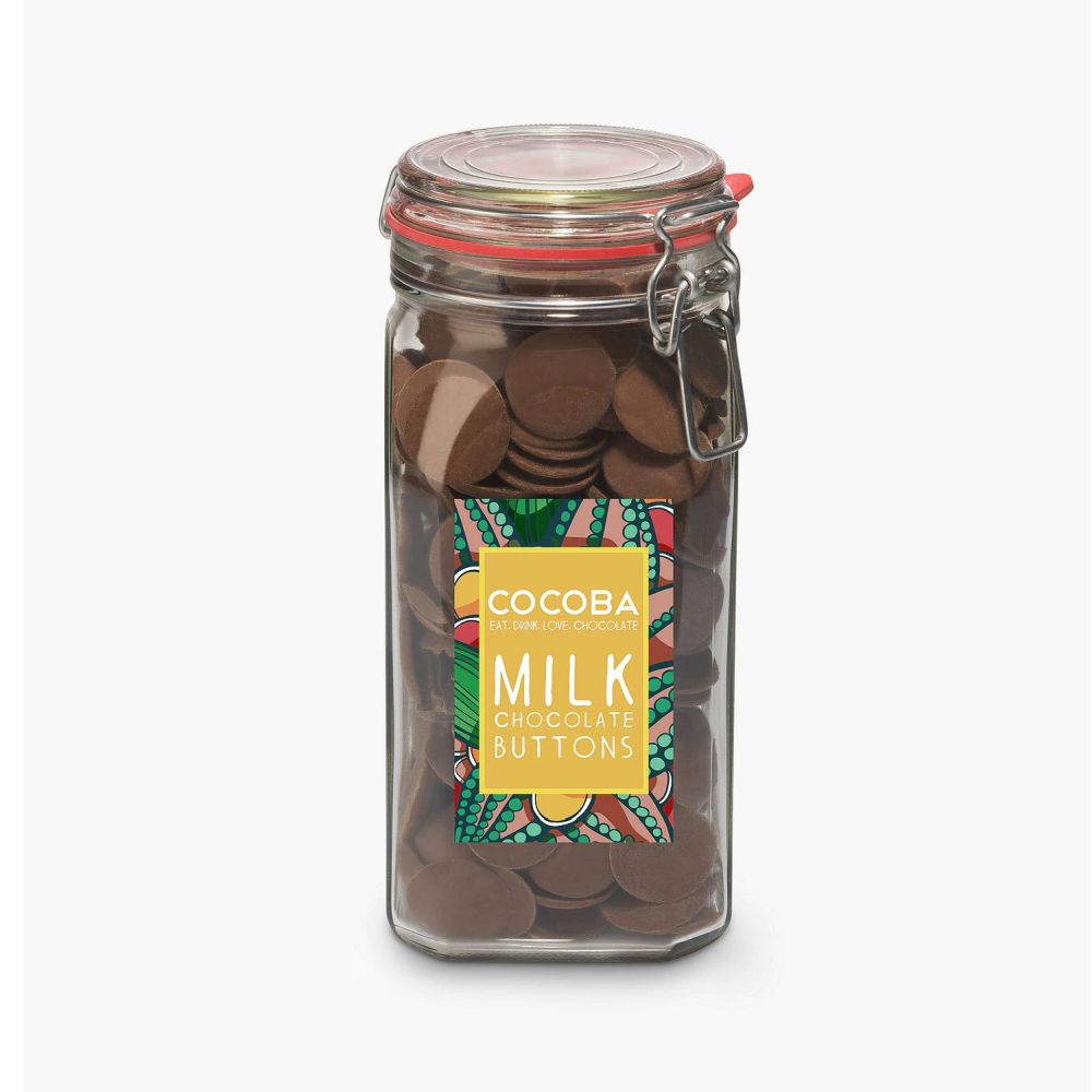 Cocoba 900g Milk Chocolate Buttons Jar