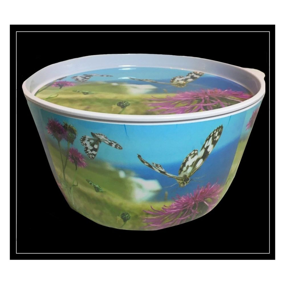 Country Matters Coastal Butterfly Large Picnic Salad Bowl