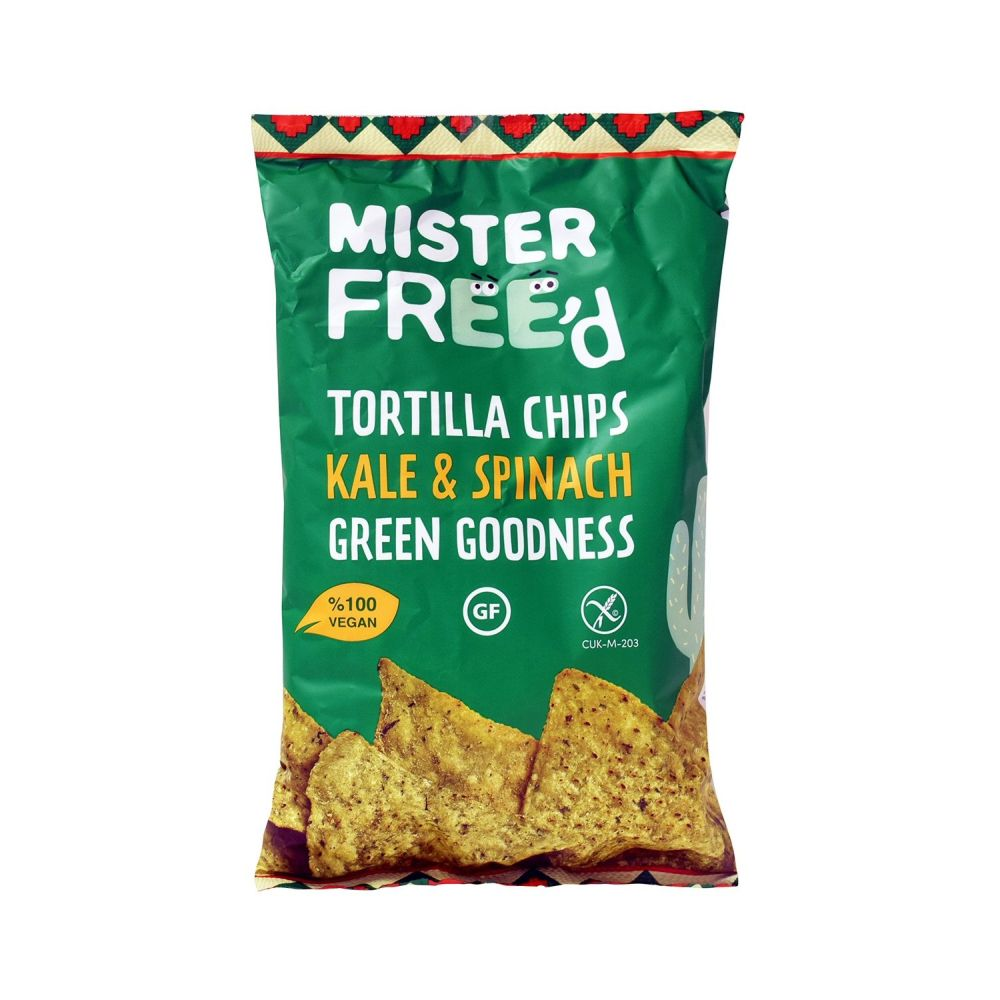 Mister Free'd 135g Tortilla Chips with Kale and Spinach