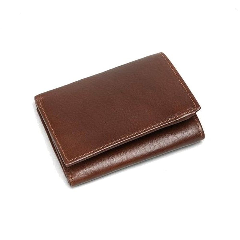 Charles Smith Flap Over RFID Leather Wallet - Tan