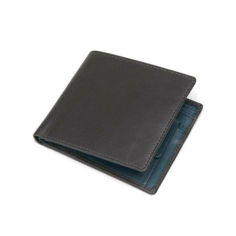 Charles Smith Flap Over Nappa Leather Wallet - Black/Blue