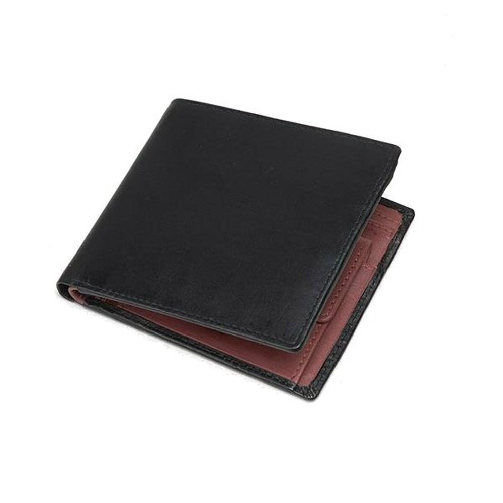 Charles Smith Flap Over Nappa Leather Wallet - Black/Red