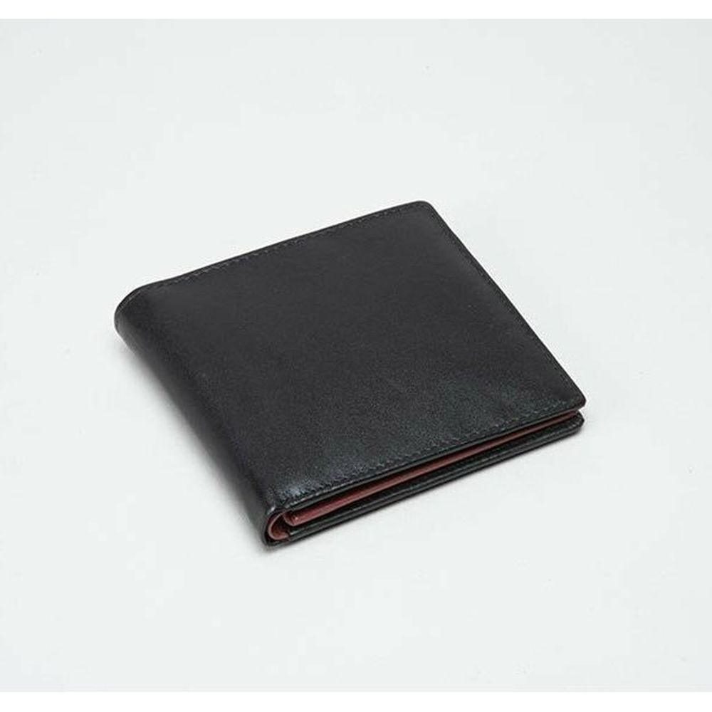 Charles Smith Flap Over Leather Wallet - Black/Red