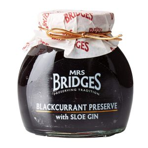 Mrs Bridges 340g Blackcurrant Preserve with Sloe Gin