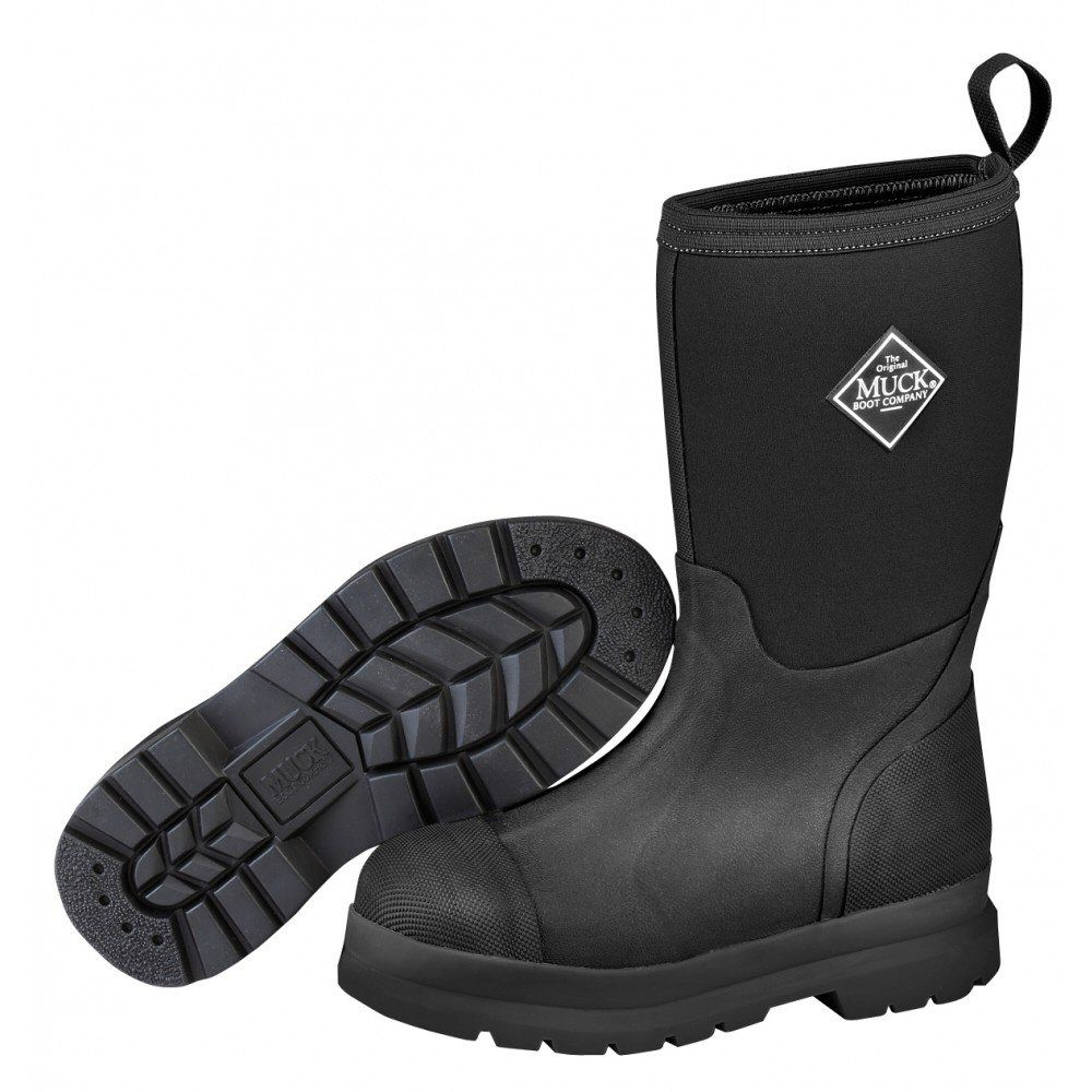 Muck Boots Black Kids' Chore Wellies - Size 12