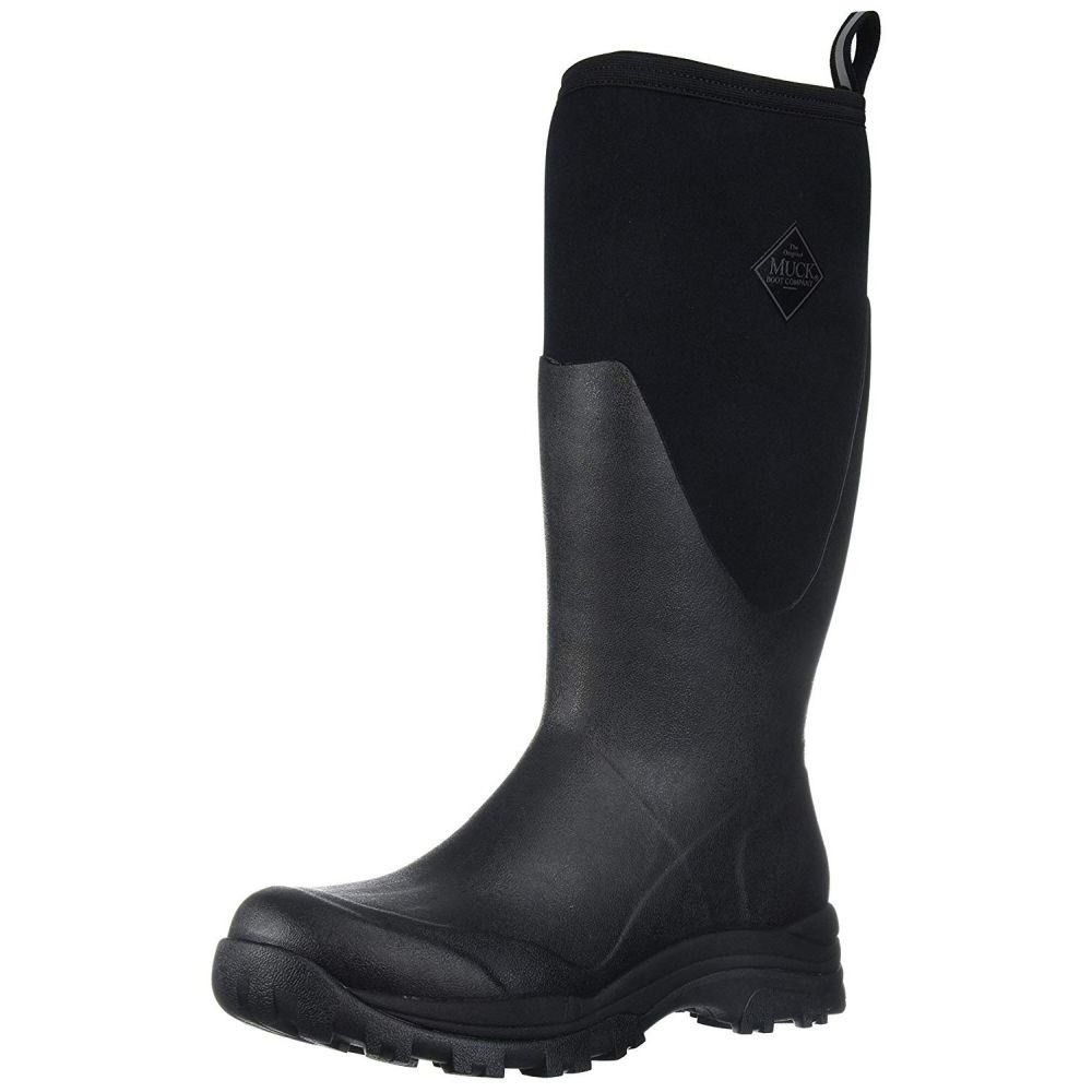 Muck Boots Black Arctic Outpost Wellies - Size 8