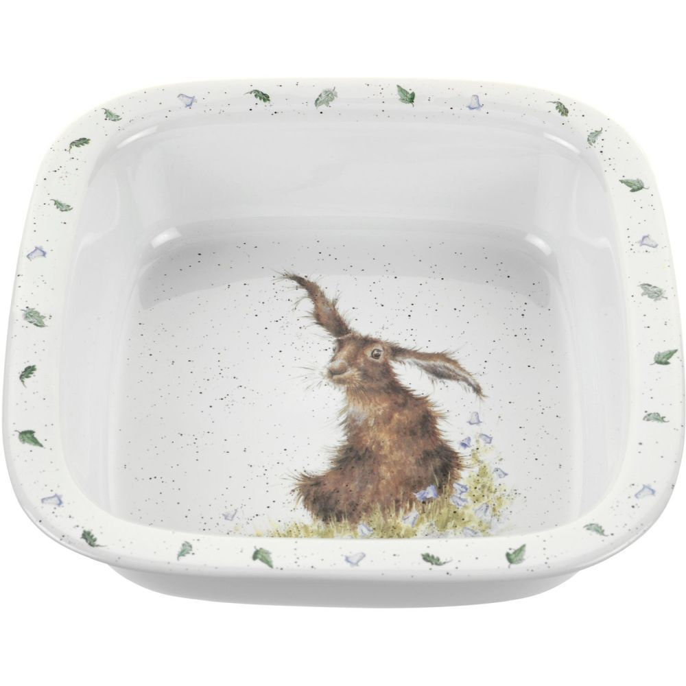 Portmeirion 25.5cm Royal Worcester Wrendale Hare Square Dish