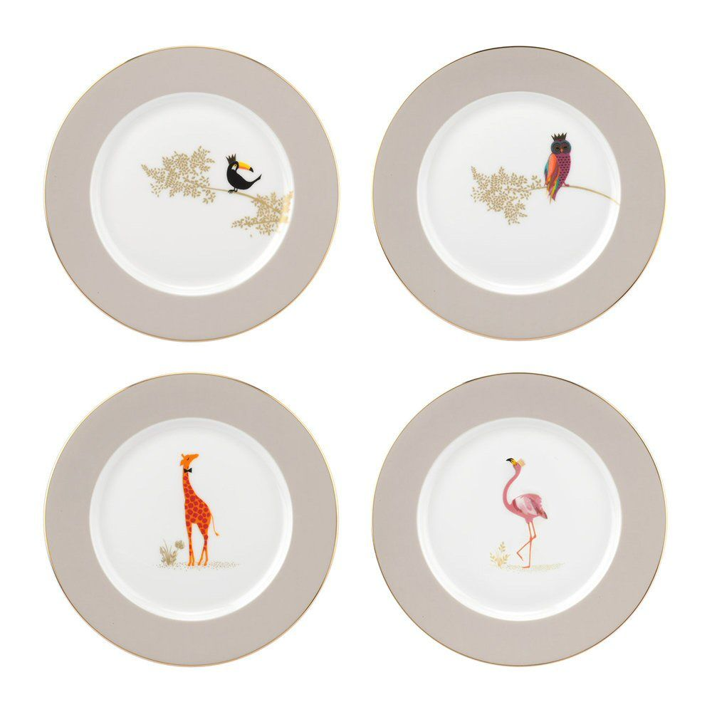 Portmeirion Piccadilly Collection - Cake Plates Set of 4 (Range 1)