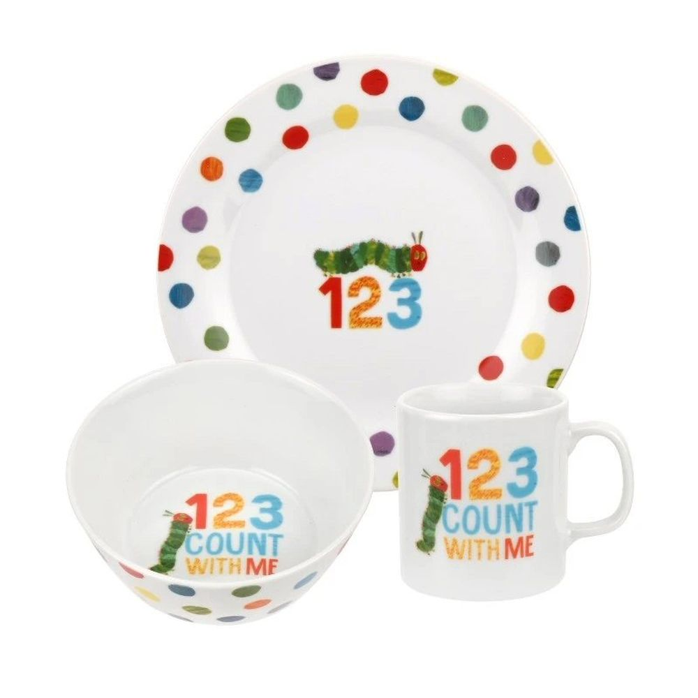 The Very Hungry Caterpillar 3 Piece 123 Melamine Set