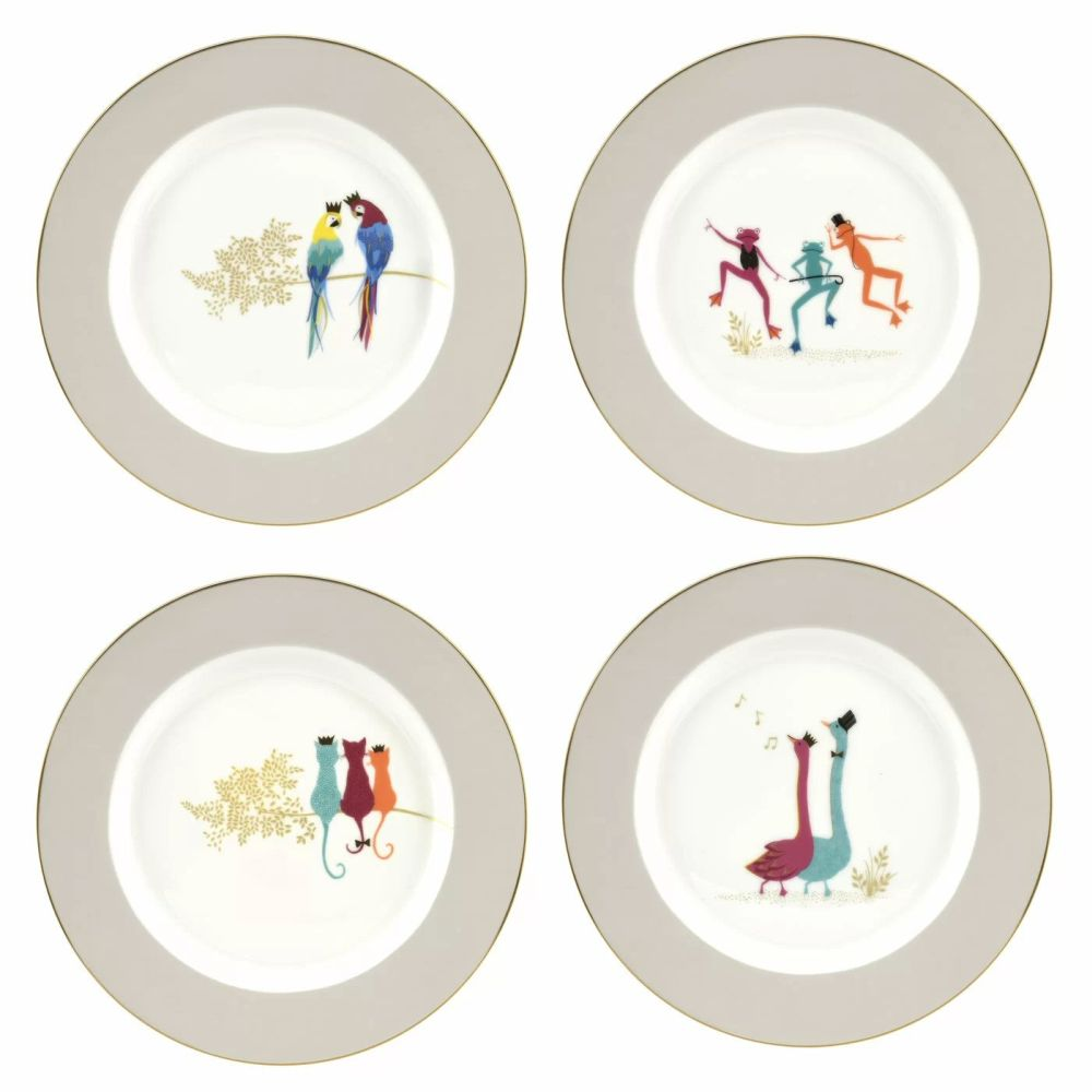 Portmeirion Piccadilly Collection - Cake Plates Set of 4 (Range 2)