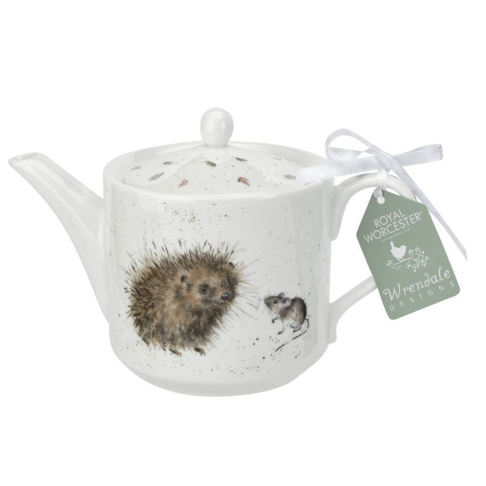 Royal Worcester Wrendale Designs Hedgehog and Mice Teapot