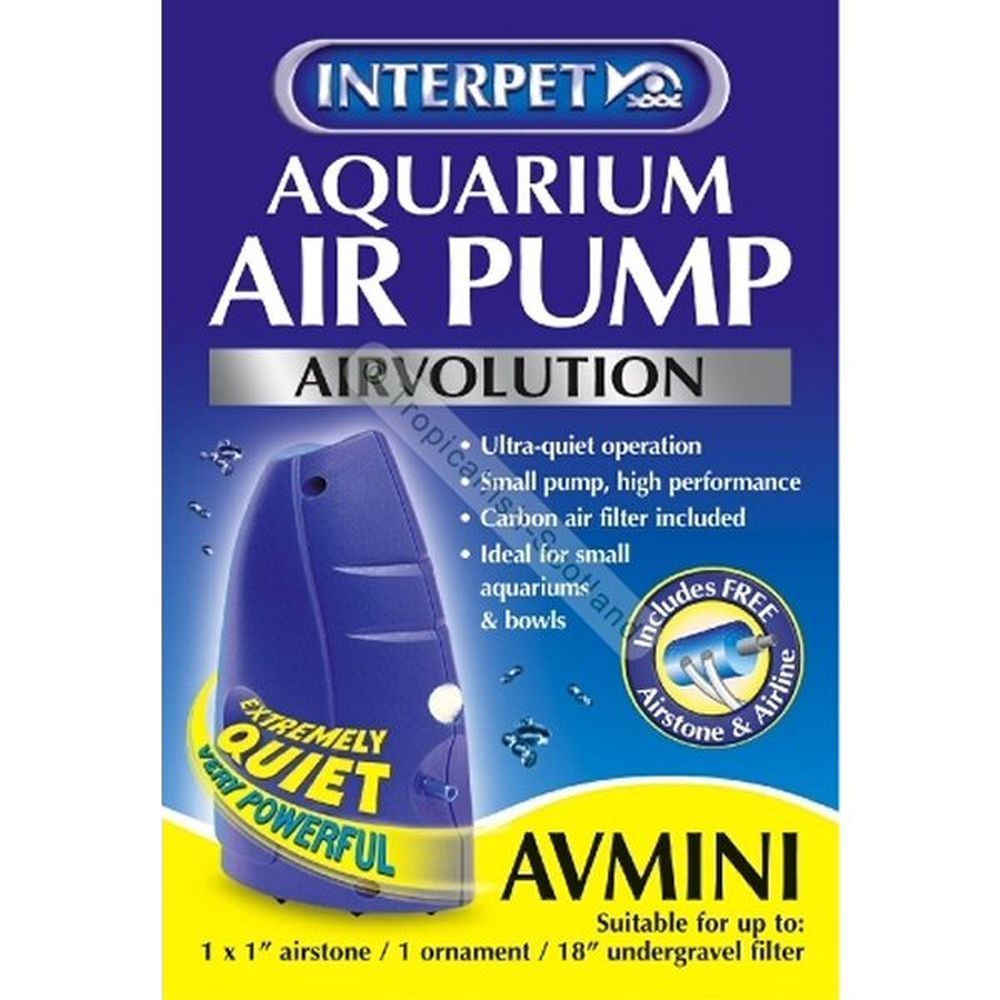 Interpet Aquarium Air Pump Air Volution AVMini