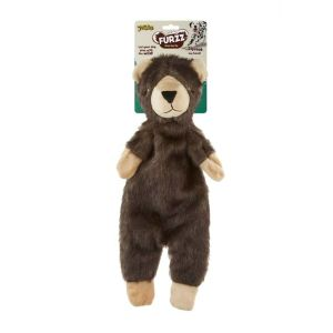 Pet Love Furzz Plush Dog Toy with Squeaker - Small Bear