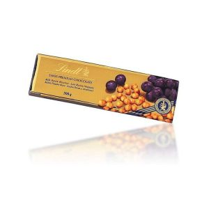 Lindt 300g Gold Hazelnut & Raisin Chocolate Bar