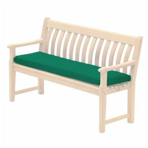 Alexander Rose 4ft Green Polyester Bench Cushion - 578G