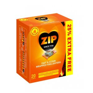 Zip 20 Wrapped Firelighters - 596460