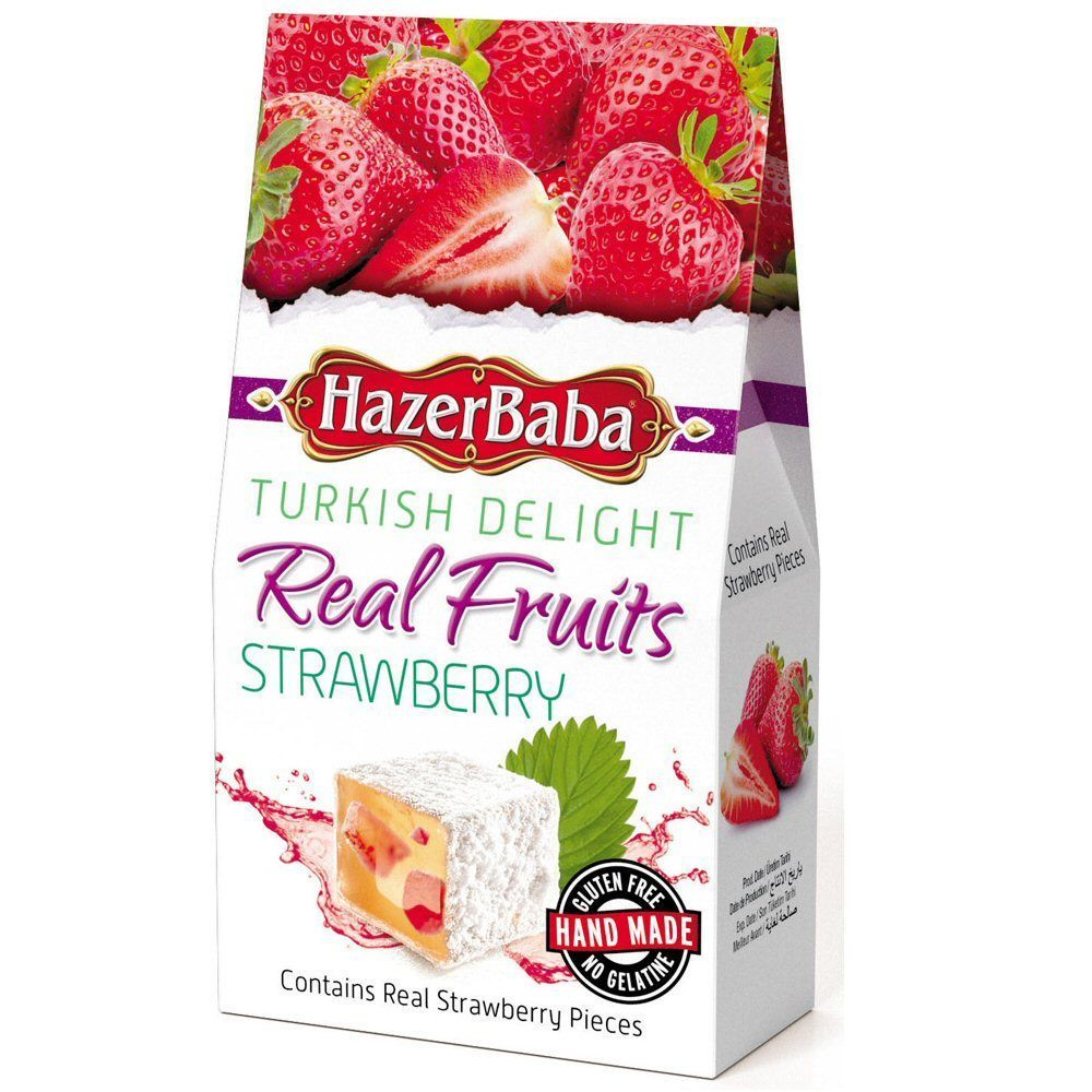 Hazer Baba 100g Real Fruits Strawberry Turkish Delight