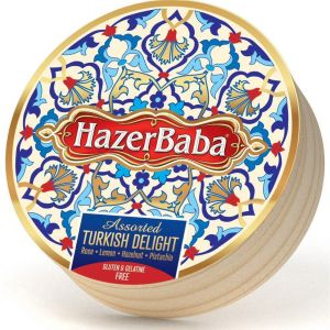 Hazer Baba 454g Rose, Lemon, Pistachio & Hazelnut Turkish Delight