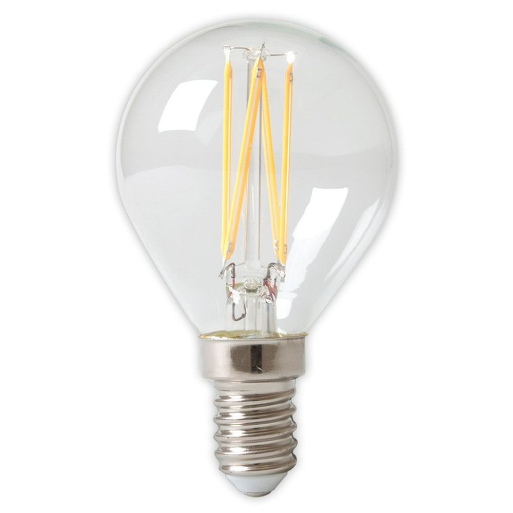 Calex E27 LED E14 Glass Filament Ball Bulb