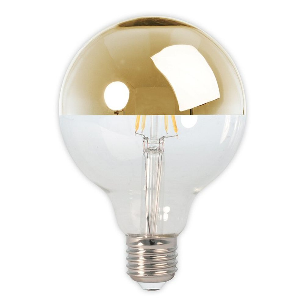 Calex E27 Gold Top  LED Glass Filament Globe Bulb
