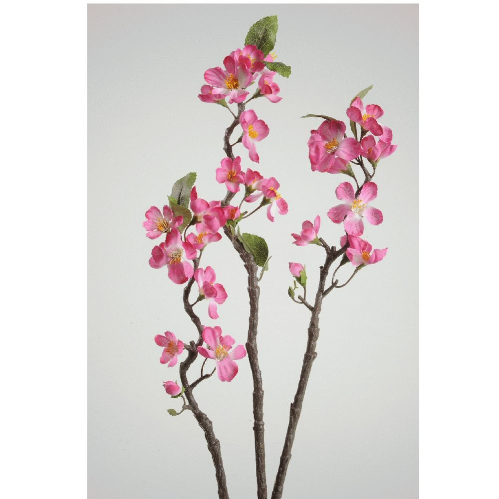 Kaemingk Fuchsia Artificial Apple Blossom Branch