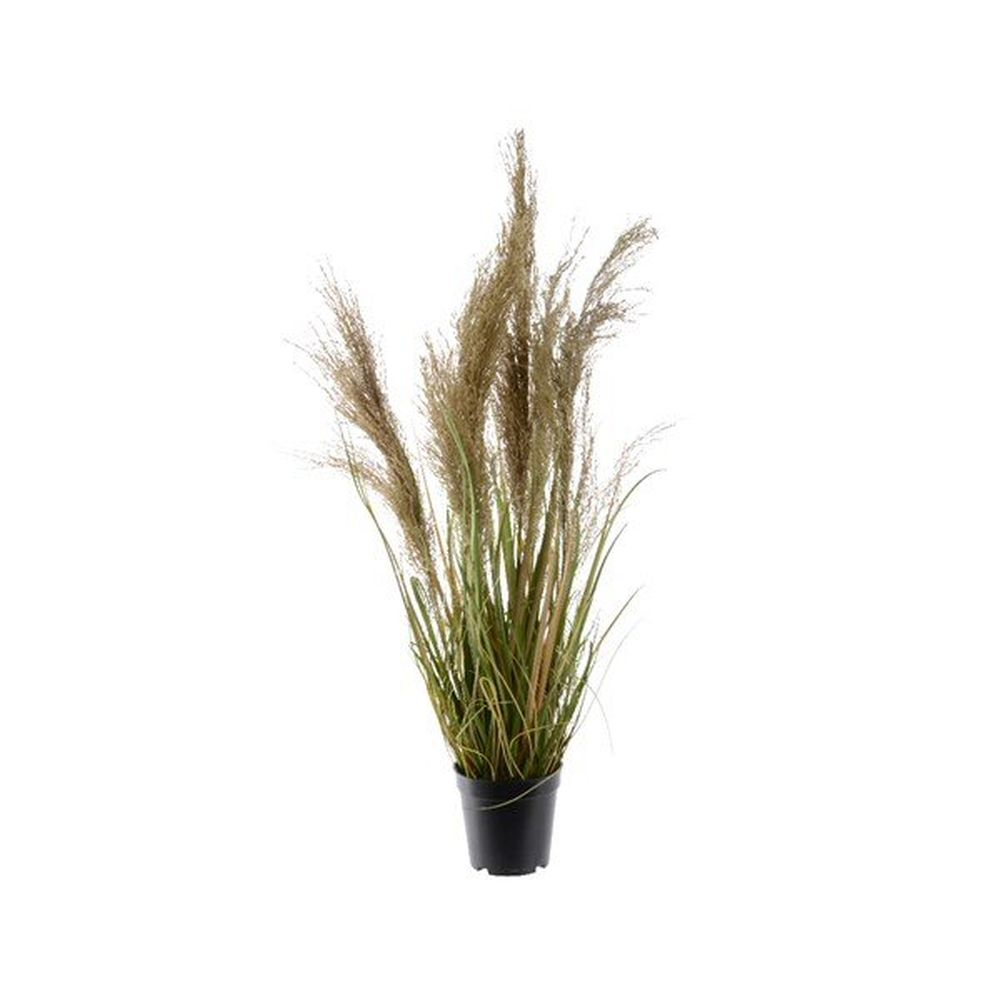 Kaemingk 115cm Potted Grass with Natural Plume Artificial Plant