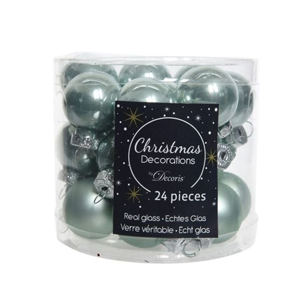 cheaper efe3b 741a9 Decoris Pack of 24 Eucalyptus Mini Baubles - Tree ...