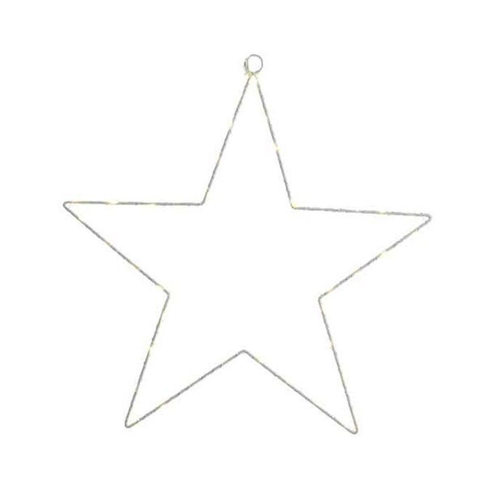 Lumineo 58cm Micro LED Lit Silver Star Christmas Decoration