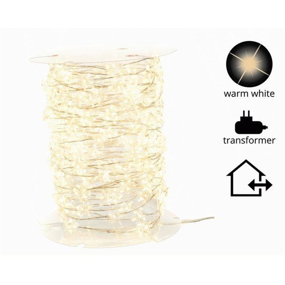 Lumineo Micro Warm White Lights with Stars LED Lights (14.95m)