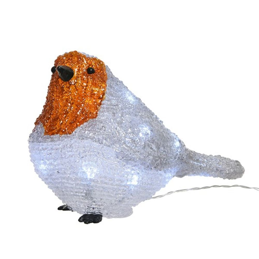Lumineo 21cm Cool White LED Acrylic Robin