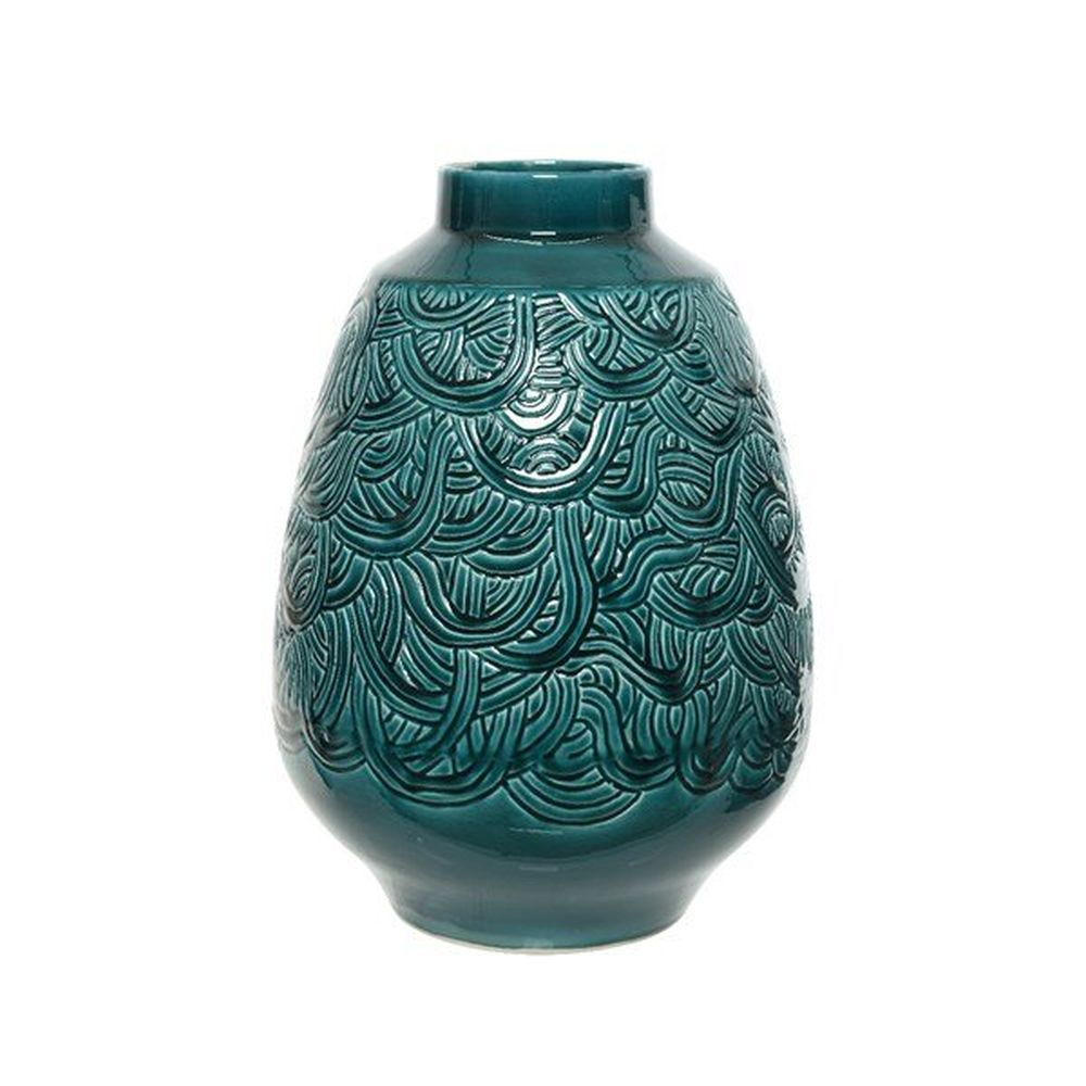 Kaemingk 46cm Emerald Green Ew Vase