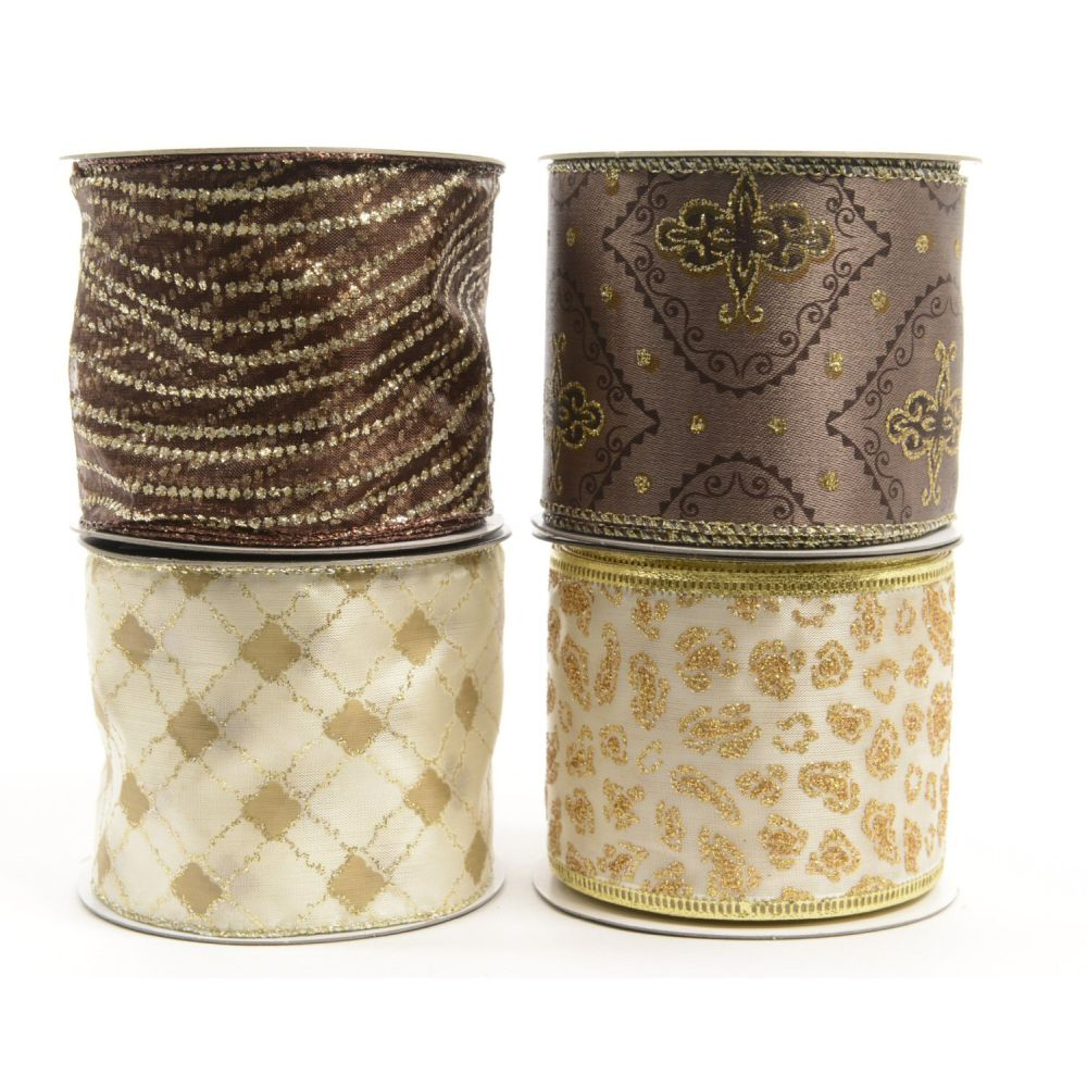 Kaemingk Truffle Wire Ribbon Assorted Colours Choice Of 4 442206 Uk Wiring Old Larger View