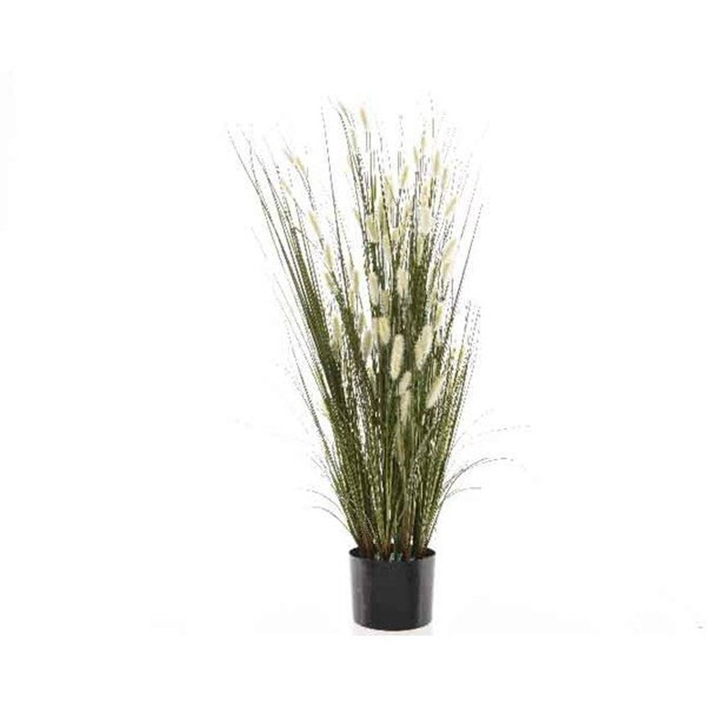 Kaemingk 90cm Potted Grass with Cats Tail Artificial Plant