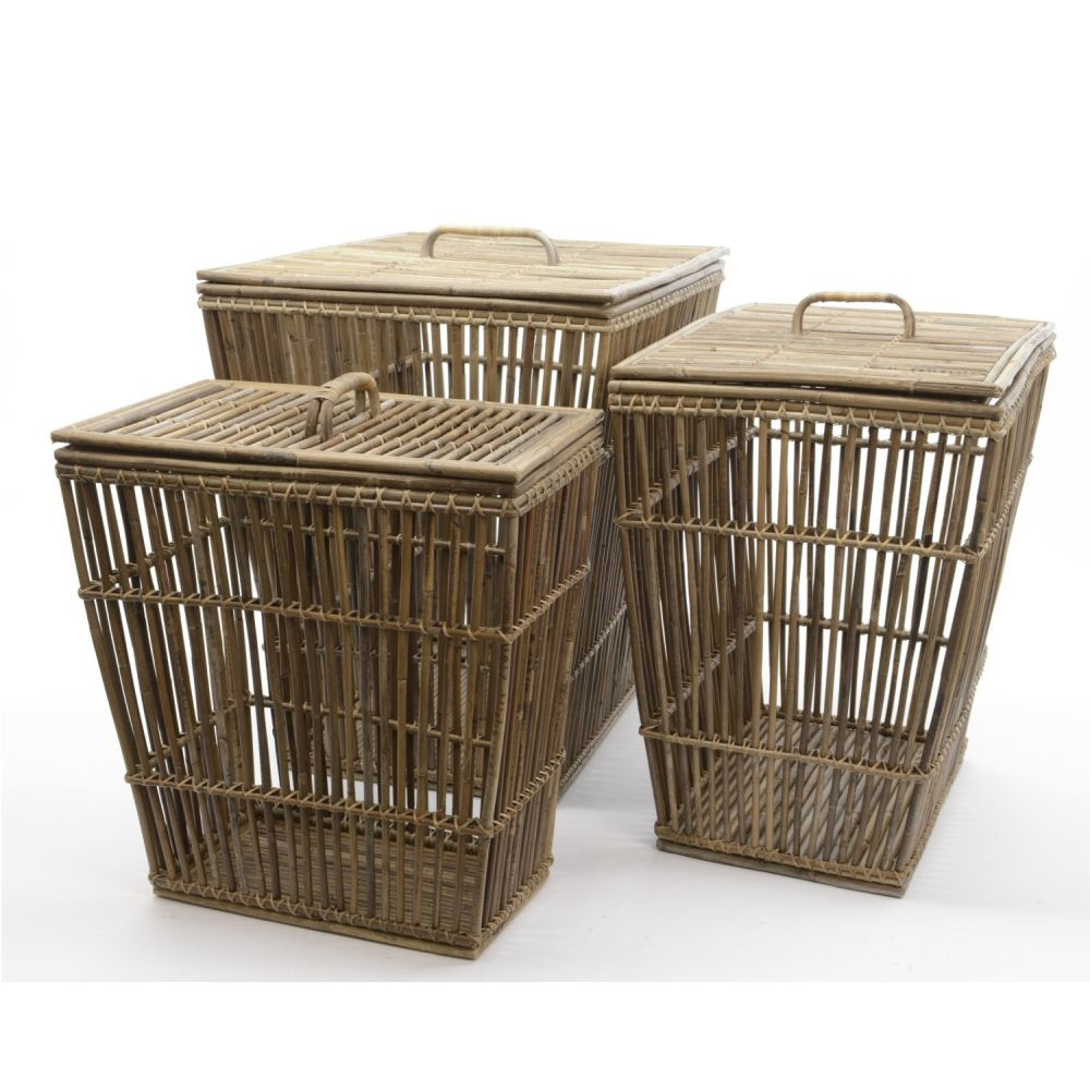 Kaemingk 50cm Medium Rattan Basket with Lid - 838220