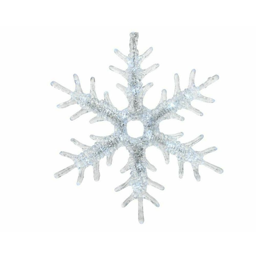Lumineo 30cm Cool White LED Snowflake