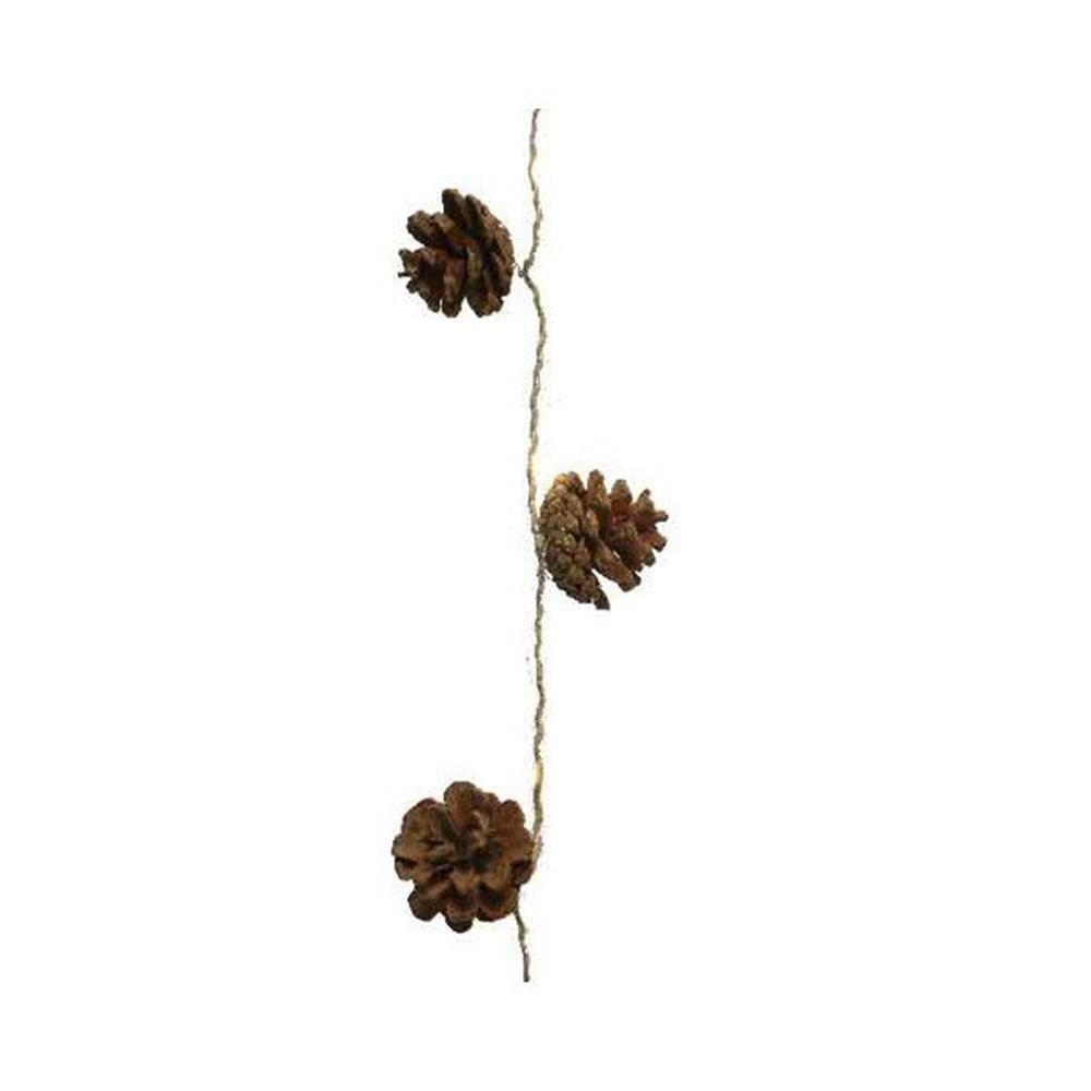 Lumineo 3.9m Micro LED Warm White Pinecone String Light