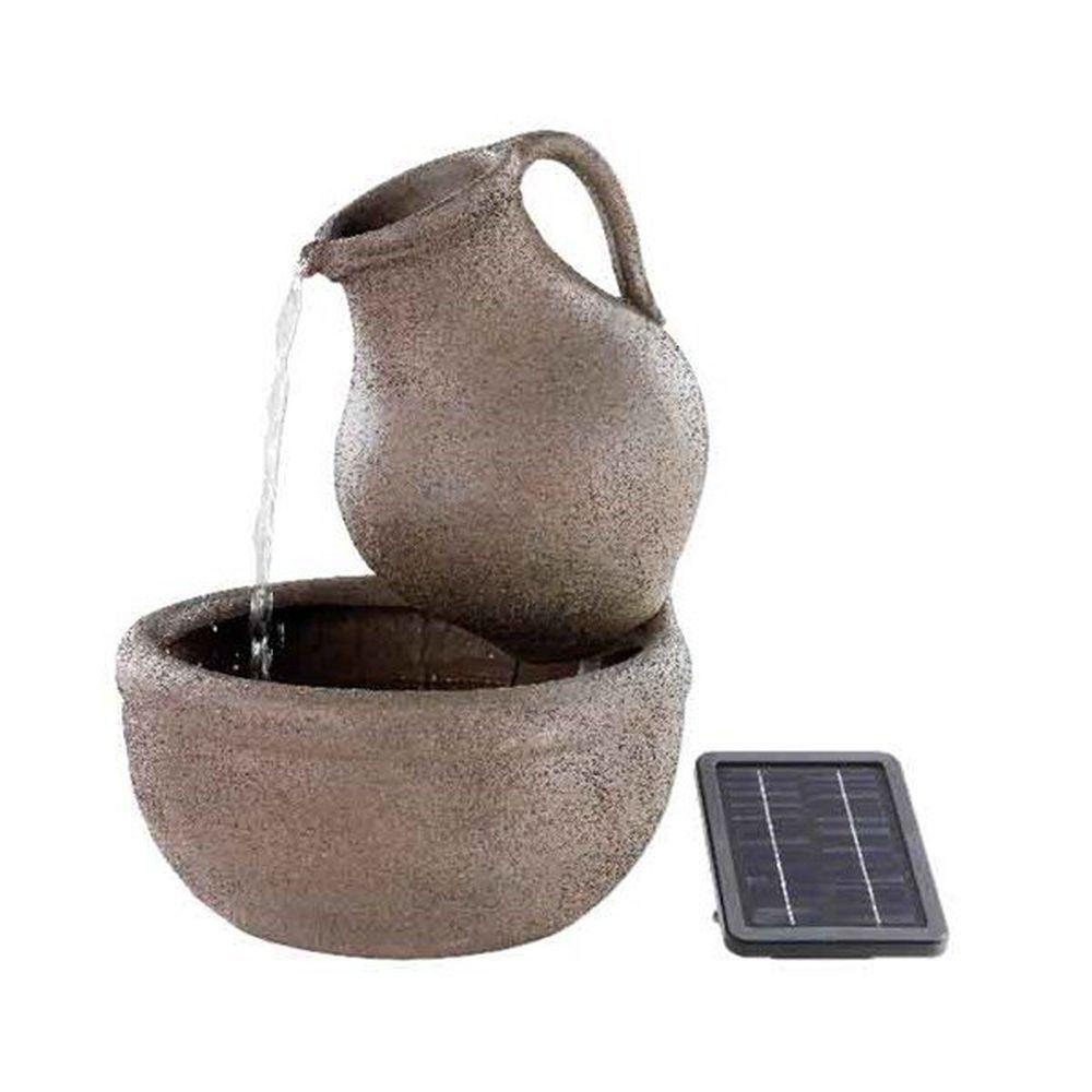 Kaemingk 55cm Solar Powered Jar Water Feature