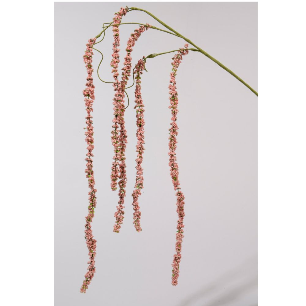 Kaemingk Pink Berry Weeping Willow Artificial Stem