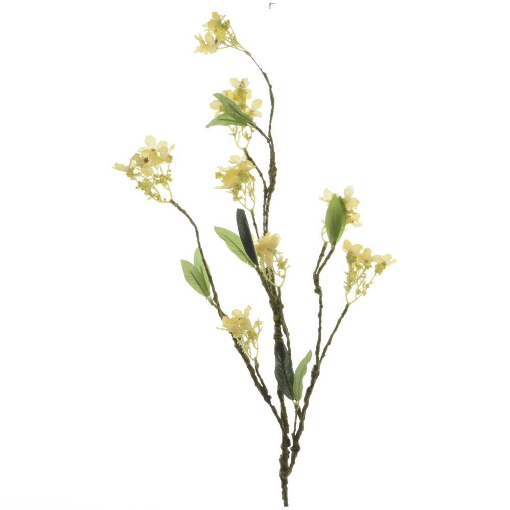 Kaemingk Artificial Silk Yellow Blossom Branch