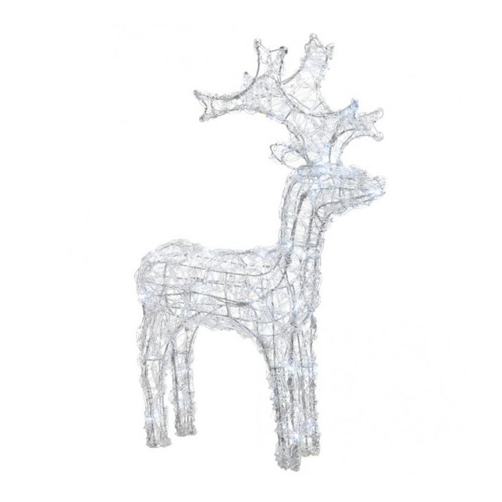 Lumineo 60cm Cool White LED Flashing Reindeer